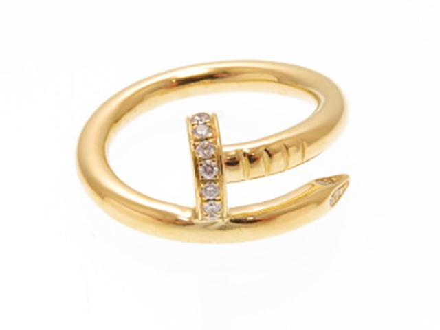 Cartier  カルティエ 貴金属・宝石  B4211800  リング  ジュストアンクルR イエローゴールド ダイヤモンド 50号 【430】【中古】【大黒屋】
