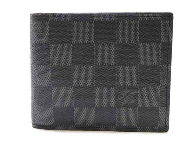 【送料無料】LOUIS VUITTON 財布 ポルトフォイユ・アメリゴNM グラフィット N60053【472】AH【中古】【大黒屋】