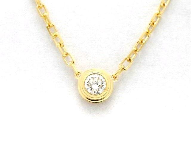 Cartier カルティエ 貴金属・宝石 ネックレス ディアマンレジェネックレス SM 750YG(イエローゴールド) 1ポイントダイヤモンド 2.9g【473】【中古】【大黒屋】