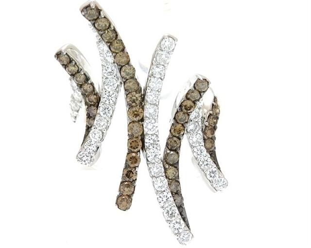 JEWELRY ノンブランド 貴金属・宝石 リング K18ホワイトゴールド ブラウンダイヤ0.94ct ダイヤモンド0.92ct 13号 9.4g 【205】【中古】【大黒屋】