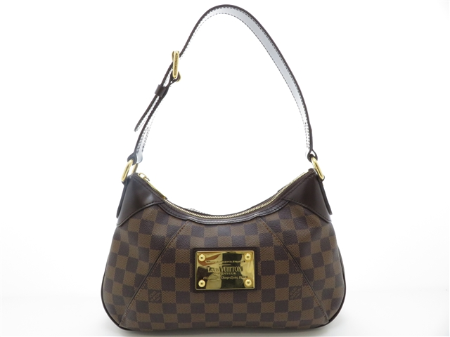 LOUIS VUITTON ルイヴィトン ダミエ テムズPM N48180 ワンショルダーバッグ 2010年頃製造品 made in USA レディース バック【204】【中古】【大黒屋】