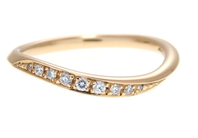 JEWELRY Golden dew 貴金属・宝石 リング K18ピンクゴールド ダイヤモンド 10号 1.9g 【205】【中古】【大黒屋】