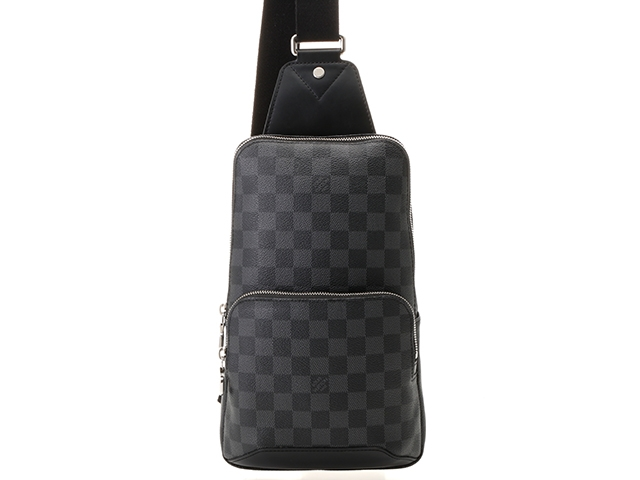 LOUIS VUITTON ルイヴィトン バッグ ショルダーバッグ アヴェニュー・スリングバッグ ダミエ・グラフィット N41719 【437】【中古】【大黒屋】