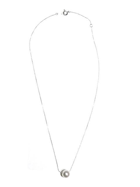 JEWELRY ネックレス K18ホワイトゴールド パール【204】【中古】【大黒屋】