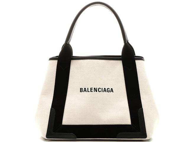 【送料0円】 BALENCIAGA バレンシアガ バッグ  ネイビーカバス S サイズ ナチュラル ブラック  キャンバス カーフ 【205】【】【大黒屋】, 環境生活 1ee37c67
