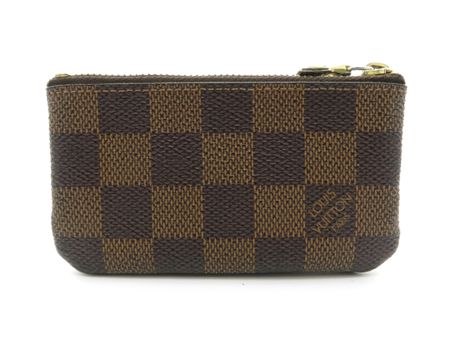 LOUIS VUITTON ルイヴィトン ダミエ ポシェット・クレ N62658 2008年頃製造品 made in Spain エベヌ 小銭入れ コインケース キーリング付き メンズ レディース ユニセックス 男女兼用【204】【中古】【大黒屋】