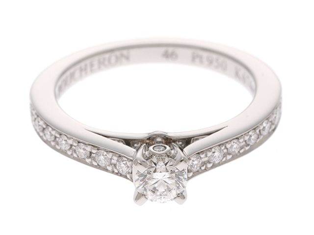 BOUCHERON ブシュロン Pt950 ダイヤモンド ビーラブドソリテール リング 46号 【430】【中古】【大黒屋】