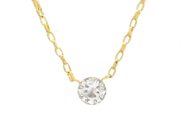 AHKAH アーカー 貴金属・宝石 ダイヤネックレス イエローゴールド K18 ダイヤモンド 0.9g 【200】【中古】【大黒屋】