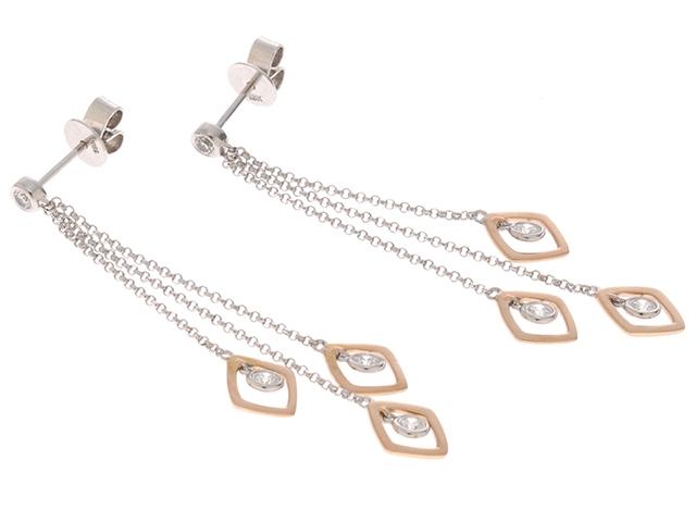 JEWELRY ノンブランドジュエリー ピアス K18 ダイヤモンド0.44ct SS【472】【中古】【大黒屋】