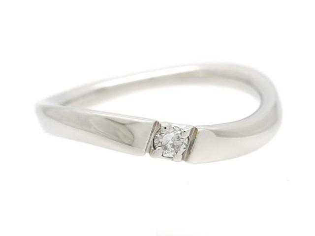 4℃ ヨンドシー 貴金属・宝石 リング 指輪 プラチナ PT950 ダイヤモンド 4.0g 9号【200】【中古】【大黒屋】