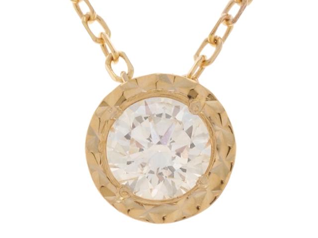 ノンブランドジュエリー ネックレス K18YG イエローゴールド 一粒 ダイヤモンド 0.238ct 【474】【中古】【大黒屋】