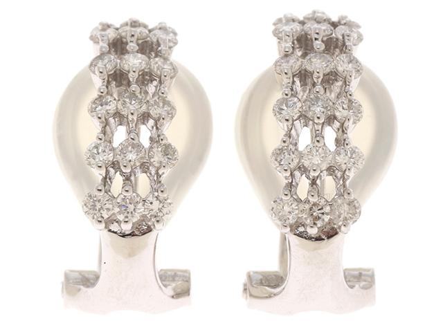 【送料無料】JEWELRY ノンブランドジュエリー ピアス K18WG ダイヤモンド 0.25*2 両耳用 【460】【中古】【大黒屋】