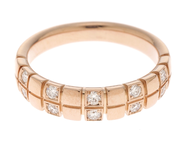 【送料無料】JEWELRY  リング  K18ピンクゴールド ダイヤモンド0.25  約4.7g 14号  SS 【472】【中古】【大黒屋】