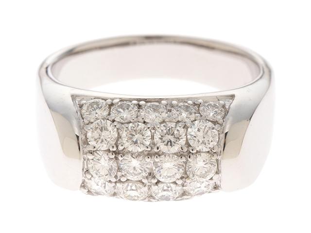 【送料無料】JEWELRY ノンブランドジュエリー リング 指輪 K18WG ダイヤモンド 1.50ct 17号 【460】【中古】【大黒屋】