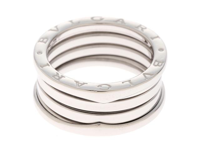 BVLGARI ブルガリ リング 指輪 Bーzero1リング K18 ホワイトゴールド Sサイズ 58号 【474】【中古】【大黒屋】