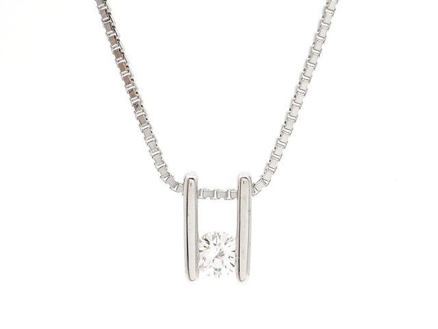 TASAKI タサキ 貴金属・宝石 ダイヤネックレス ホワイトゴールド K18WG ダイヤモンド 0.13ct 3.3g【200】【中古】【大黒屋】