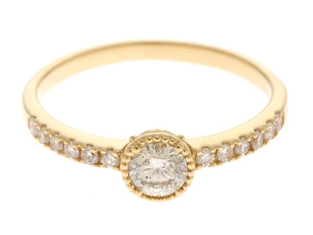 JEWELRY ノンブランドジュエリー K18 ダイヤモンド リング 14号 【430】【中古】【大黒屋】
