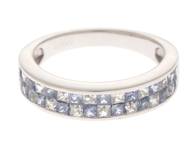 【送料無料】JEWELRY ノンブランドジュエリー リング 指輪 K18WG ダイヤモンド 14号 【460】【中古】【大黒屋】