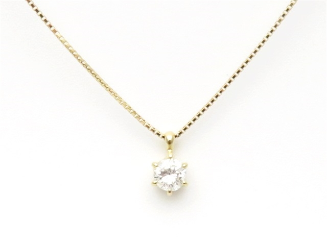 JEWELRY ノンブランドジュエリー ダイヤモンドネックレス K18イエローゴールド 【437】【中古】【大黒屋】