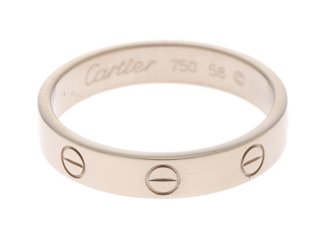 Cartier  カルティエ 貴金属・宝石  ミニラブ リング  ミニラブR WG ホワイトゴールド 58サイズ (日本サイズ:約18号) 【430】【中古】【大黒屋】