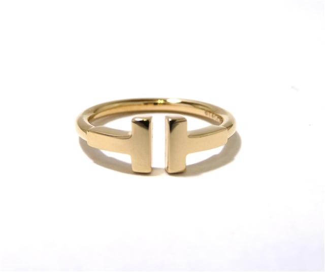 【送料無料】TIFFANY&CO  Tワイヤーリング 18Kピンクゴールド 約6.5号【472】AH【中古】【大黒屋】