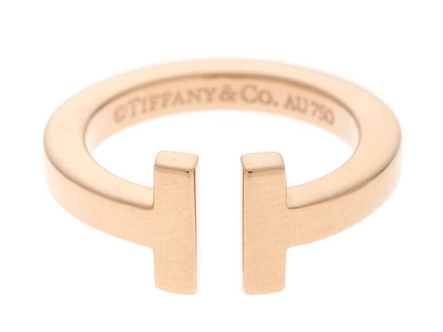 TIFFANY&CO ティファニーT スクエア リング 指輪 K18PG ピンクゴールド 7.5号 【474】【中古】【大黒屋】