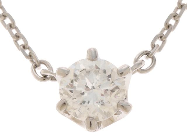 4℃ ヨンドシー ネックレス PT850 プラチナ 一粒 ダイヤモンド 0.230ct 【474】【中古】【大黒屋】