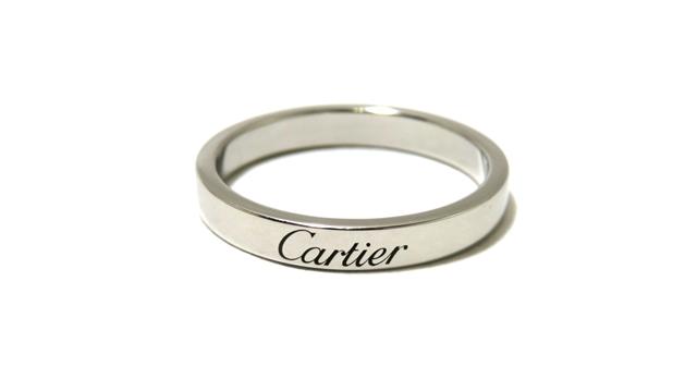 【送料無料】Cartier カルティエ 指輪 リング エングレーブドリング PT950/プラチナ950 55号【472】AH【中古】【大黒屋】