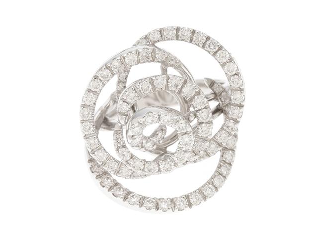 DAMIANI ダミアーニ WG ダイヤモンド ローズリング 11.5号 【430】【中古】【大黒屋】