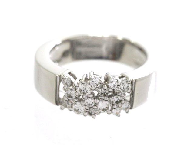 【送料無料】RUGIADA ルジアダ 貴金属・宝石 指輪 リング K18ホワイトゴールド ダイヤモンド 7.9g 7.5号【473】【中古】【大黒屋】