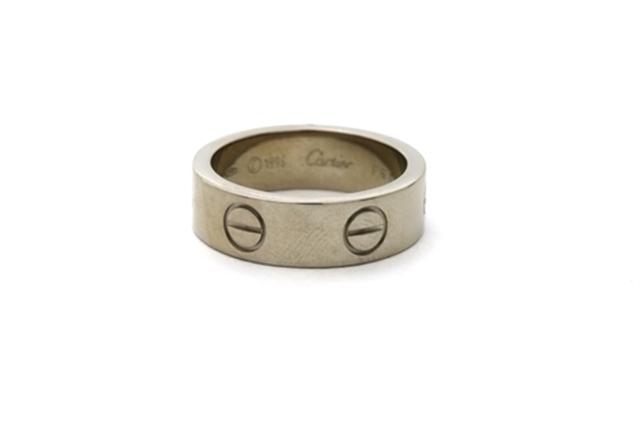 【送料無料】Cartier カルティエ 貴金属・宝石 指輪 リング ラブリング K18WG ホワイトゴールド 約8.2g #50 CT【472】【中古】【大黒屋】
