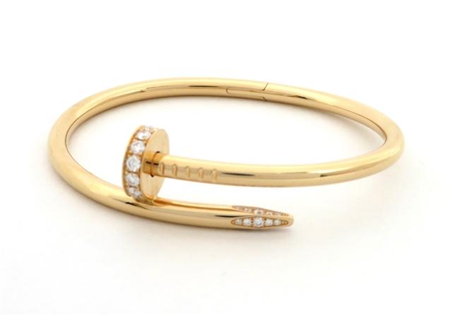 【送料無料】Cartier カルティエ ブレスレット ジュストアンクル ダイヤモンド ピンクゴールド 15号 KS【472】【】【大黒屋】