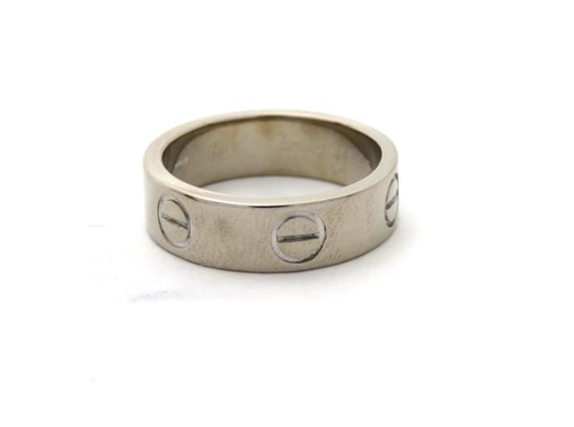 【送料無料】Cartier カルティエ 貴金属・宝石 指輪 リング ラブリング K18WG ホワイトゴールド 約7.2g #51 CT【472】【中古】【大黒屋】
