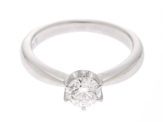 【送料無料】TASAKI タサキ ダイヤモンドリング プラチナ900 ダイヤモンド0.45 4.1g #5.5 【436】【中古】【大黒屋】