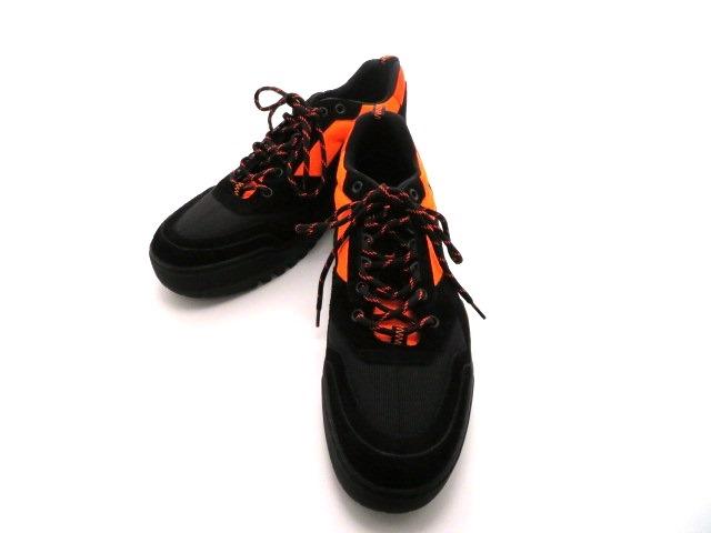 LOUIS VUITTON ルイ・ヴィトン スニーカー スエード ブラック オレンジ ハイキングライン 7ハーフ432大黒屋D29YEHeWIb