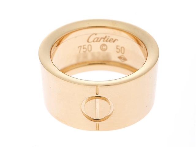 【送料無料】Cartier カルティエ ラブリング ラブコーンリング YG イエローゴールド 11.2g 50号(日本サイズ10号) 【432】【中古】【大黒屋】