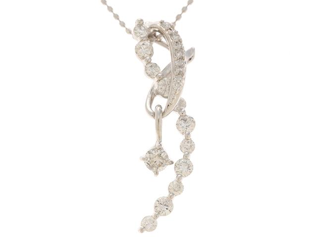 JEWELRY 貴金属・宝石 ネックレス K18ホワイトゴールド ダイヤモンド0.72ct 【204】【中古】【大黒屋】