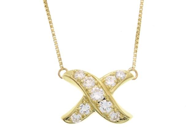 JEWELRY ノンブランド 貴金属・宝石 ネックレス K18イエローゴールド ダイヤモンド0.54ct 4.6g 【205】【中古】【大黒屋】