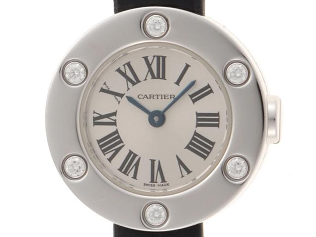 【送料無料】Cartier カルティエ 時計 クオーツ ラブウォッチ 6PD K18WG 革 ホワイトゴールド【430】【中古】【大黒屋】