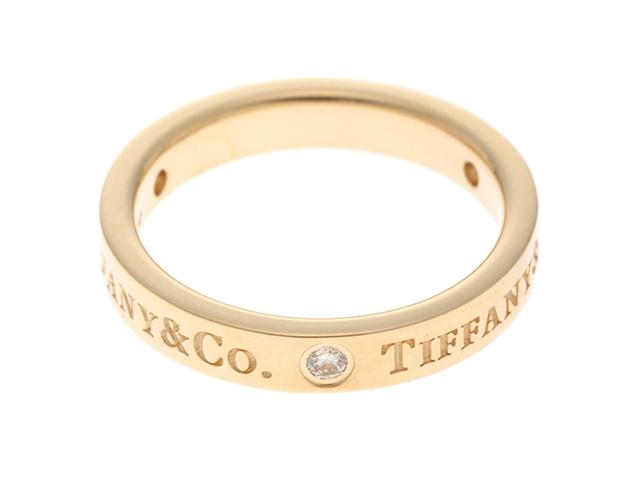 TIFFANY&CO ティファニー 1837ナロー イエローゴールド ダイヤモンド リング YG D 3.6g 6.5号【430】【中古】【大黒屋】