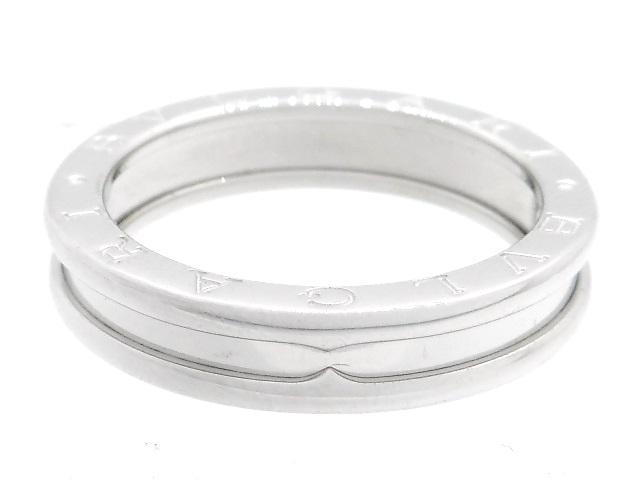 BVLGARI ブルガリ 貴金属・宝石 B-zero1 リング 指輪 XSサイズ 1バンド ビーゼロワン WG ホワイトゴールド 7.0g 49号 日本サイズ約9号 【205】【中古】【大黒屋】