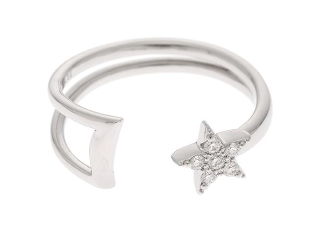 STAR JEWELRY スタージュエリー プラチナ ダイヤモンド スターデザイン リング PT950 D0.05 3.2g 8号【430】【中古】【大黒屋】