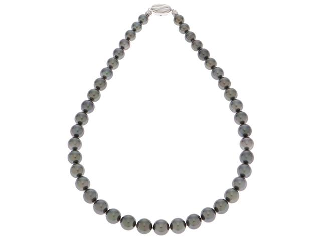 【送料無料】JEWELRY 貴金属・宝石 ネックレス シルバー ブラックパール 64.5g【431】【中古】【大黒屋】