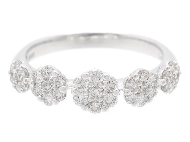 【送料無料】Ponte Vecchio ポンテヴェキオ 貴金属・宝石 ダイヤリング ダイヤモンド K18WG ホワイトゴールド D0.45ct 3.4g 13号 フラワー 花 JS0413R902WDWG 【200】【中古】【大黒屋】