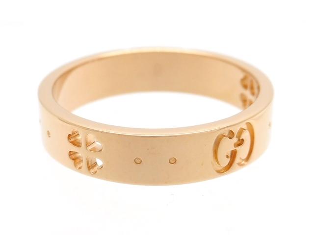 GUCCI グッチ 貴金属・宝石 アイコンクローバーリング 指輪 ピンクゴールド PG 3.4g 9号 【200】【中古】【大黒屋】