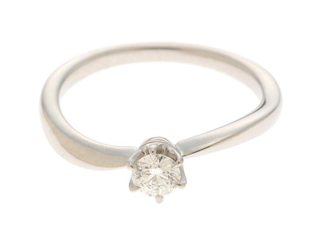 【送料無料】4℃ ヨンドシー リング 指輪 PT950 プラチナ ダイヤモンド 0.221ct 11号 鑑定書付【460】【中古】【大黒屋】