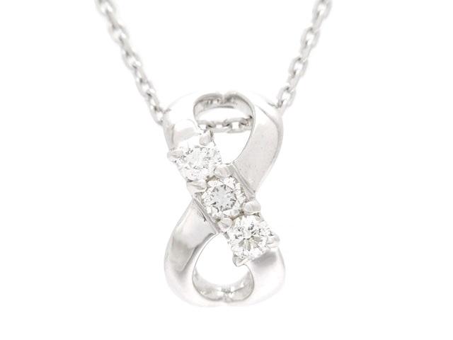 4℃ ヨンドシー 貴金属・宝石 ダイヤネックレス ホワイトゴールド K18WG ダイヤモンド 2.5g 【200】【中古】【大黒屋】