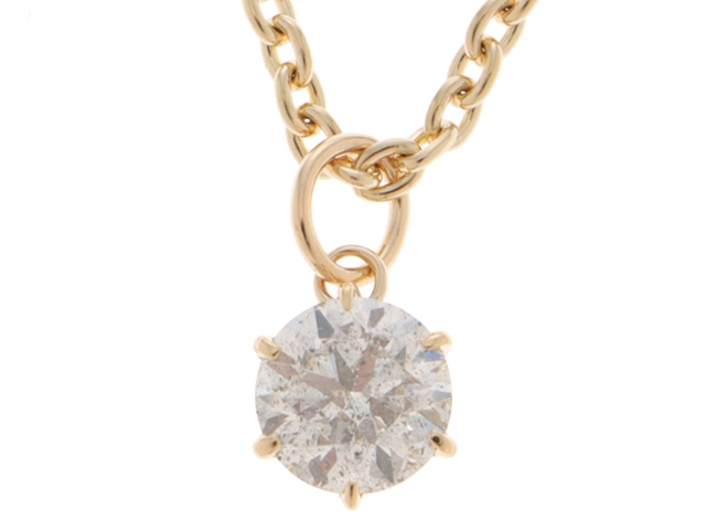 JEWELRY 貴金属・宝石 ネックレス K18 18金 ダイヤモンド1.0/7.4g【472】HU【中古】【大黒屋】