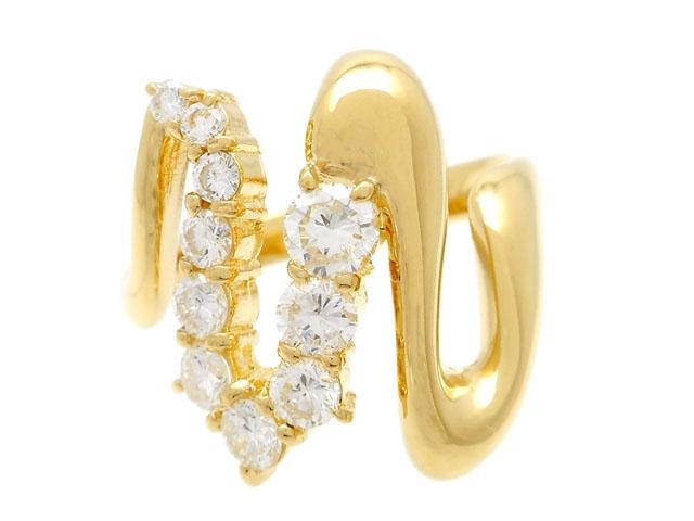 JEWELRY ノンブランドジュエリー 貴金属・宝石 ダイヤリング 指輪 イエローゴールド K18 ダイヤモンド 1.00ct 8.5g 18号 【200】【中古】【大黒屋】