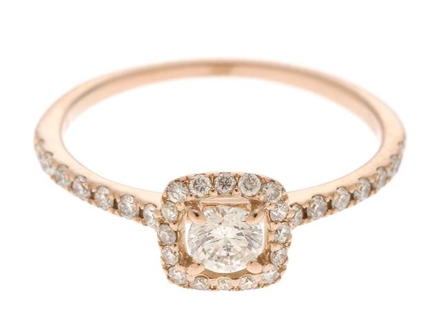 【送料無料】JEWELRY ノンブランドジュエリー リング 指輪 K18 ゴールド ダイヤモンド 0.20/0.20ct 7号 【460】【中古】【大黒屋】